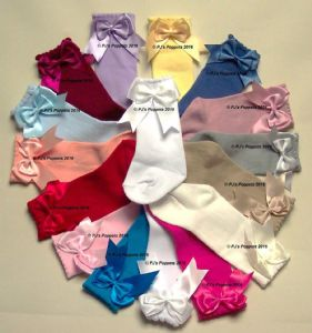BABY GIRLS DOUBLE BOW SOCKS 3/4 TO KNEE HIGH 0 3 6 12 1 2 3 4 5 6